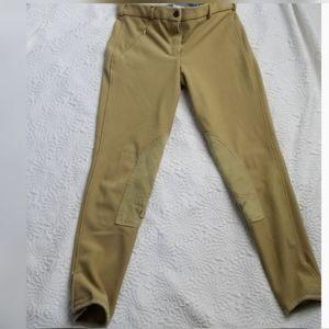 Tuffrider Women's Front Zip Knee Patch Breeches